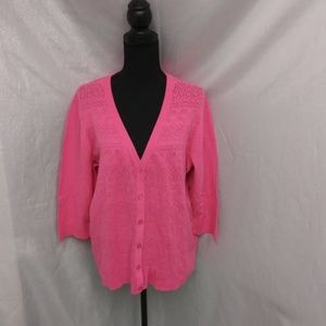Lace Like new Christopher & Banks 1x Plus Cardigan